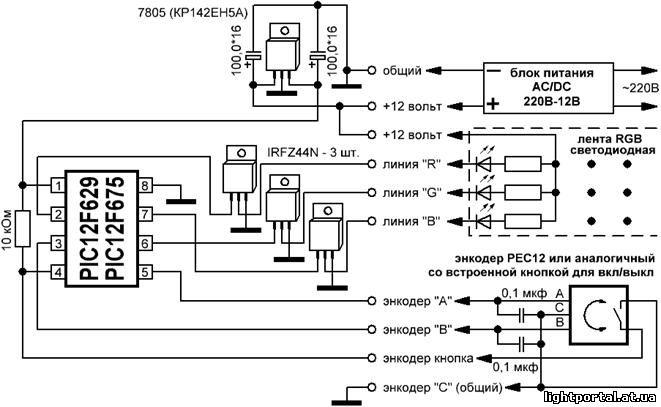 Контроллер для светодиодных лент своими руками